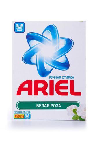 Стиральный порошок ARIEL для ручной стирки Белая роза, 450г