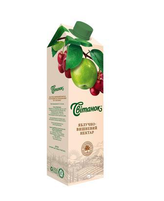 НЕКТАР яблучний, яблучновиноградний, яблучновишневий, 0,95 л СВІТАНОК