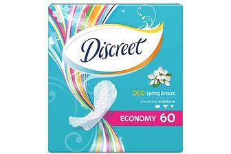 Прокладки щоденні Discreet Deo Spring Breeze Multiform, 60шт./уп