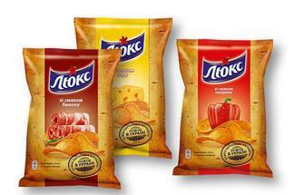 Чіпси зі смаком бекону /сиру / паприки «Люкс» - 120 г