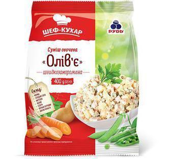 Суміш овочева Олів'є Шеф-Кухар 400г
