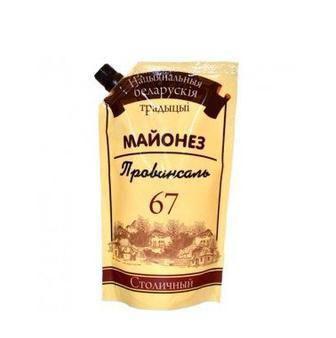 Майонез Провансаль 67% Національні Білоруські Традиціі 170 г