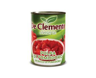 Томати De Clemente в томатному соку очищені різані, 400г