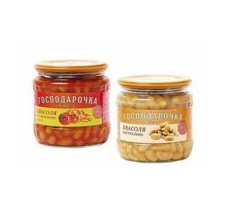 Квасоля натуральна або у томатному соус Господарочка 450 г