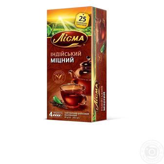 Чай чорний Лісма Індійський Міцний в пакетиках 25шт
