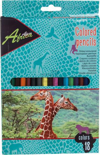 Олівці кольорові 18 шт. Е11531 Economix