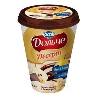 Десерт сироковий 3,4% в шок. глазурі Дольче, 0,4 кг