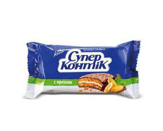 Печиво-сендвіч Konti «Супер-Контік» з горіхом, 100г