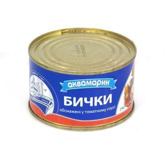 Бички в томатному соусі Аквамарин 230г