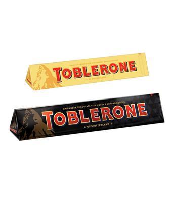 Шоколад молочний з родзинками та мигдалем або темний шоколад Тоблерон 100г