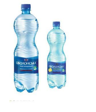 Вода мінеральнаю, мінеральна Лимон Оболонська 2л
