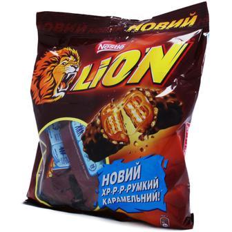 Конфеты шоколадно вафельные Nestle Lion 182г