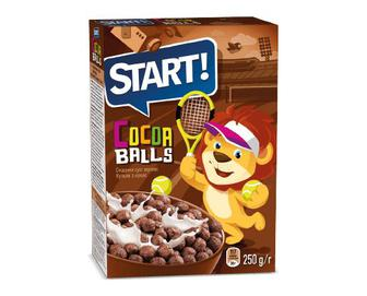 Сніданки сухі зернові Start! кульки з какао, 250 г