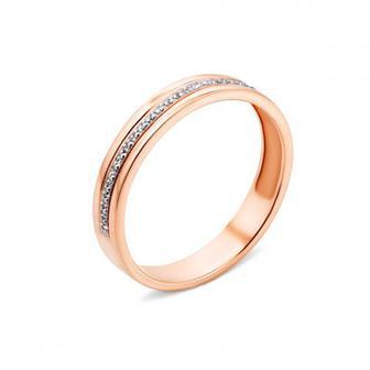 Обручальное кольцо с бриллиантами (100010/01/1/8007)