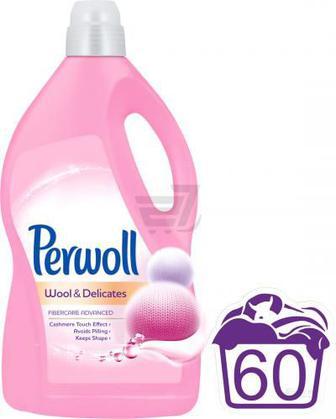 Гель універсал Perwoll для делікатного прання для вовняних та делікатних речей 3.6 л