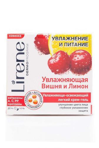 Крем для лица Lirene Увлажнение и питание Вишня и Лимон освежающий, 50мл