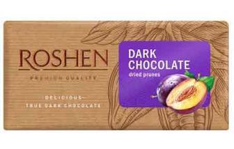 Шоколад чорний з чорносливом 90 г Рошен, ROSHEN