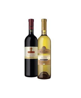 Вино Цинандалі біле сухе або Алазанська долина, червоне, напівсолодке  Марані, 0,75 л