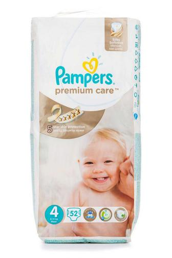 Подгузники PAMPERS Premium Care р4 8-14кг 52шт