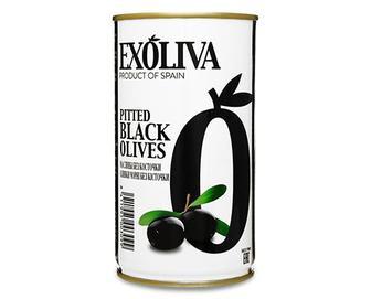 Маслини Exoliva чорні без кісточки, 370мл