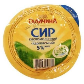 Сир кисломолочний Галичина 5% в/у, 300 г