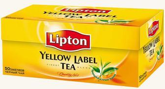 Чай черный в пакетиках Lipton Yellow Label 50 шт