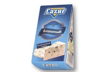 Сир м'який голубий з пліснявою, 50% Lazur 100 г
