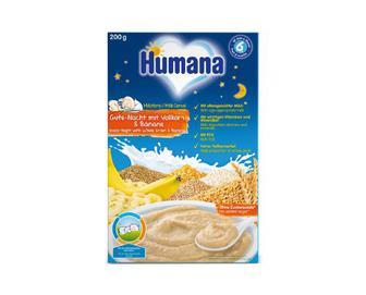 Каша Humana, молочна, гречана з бананом, 200 г