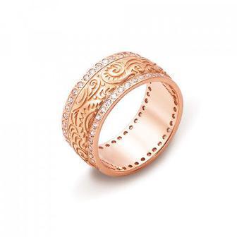 Обручальное кольцо с фианитами Артикул 10126