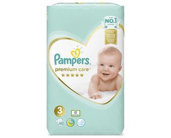 Підгузки Pampers Premium Care Midi VP, 60шт/уп
