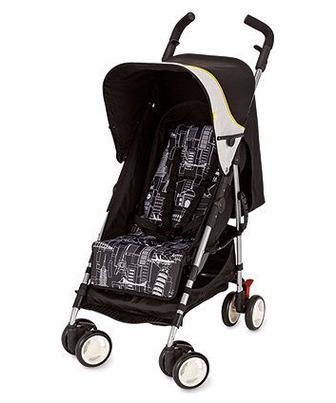 Коляска для прогулянок Mino чорного кольору з принтом міста від Mothercare