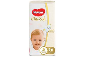 Підгузки Huggies Elite Soft Mega Pack 5 (12-22 кг) 56 шт./уп