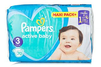 Подгузники PAMPERS Active Baby р3 6-10кг 70шт
