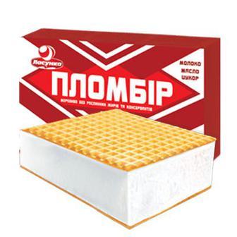 Морозиво-брикет Пломбір Ласунка 90г