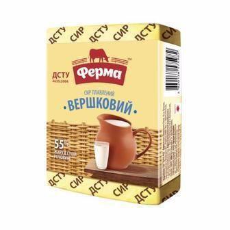 Сир плавлений Вершковий 55% Ферма180 г