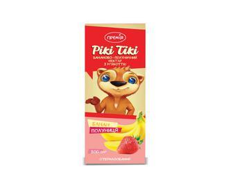 Нектар з м'якоттю бананово-полуничний «Премія Рікі Тікі»® 0,2 л