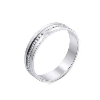 Обручальное кольцо с алмазной гранью. Артикул 10169/02/1