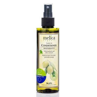 Регенерирующий кондиционер для волос Melica с экстрактами лопуха и масла, не требует смывания, 200 мл