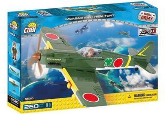 Конструктор Cobi Друга Світова Війна Літак Кавасакі KI-61-II Тоні 260 деталей (COBI-5520)