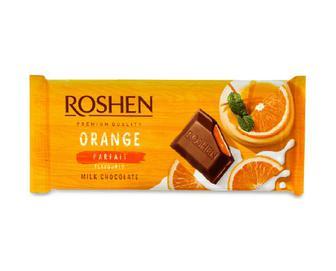 Шоколад молочний Roshen смак «Апельсинове парфе» 90г