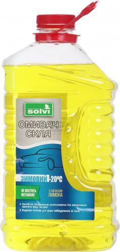 Омивач скла SOLVI лимон зима -20°С 4л