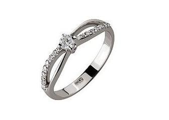 Золотое кольцо с бриллиантами Артикул 01-17497161