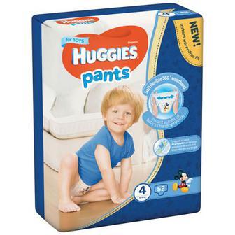 Підгузники-трусики Huggies для хлопчиків 4 9-14кг 52шт.