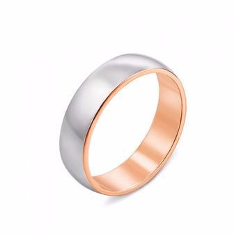 Обручальное кольцо комбинированное. Артикул 10164/2