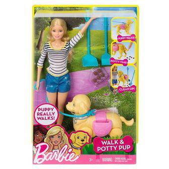 Набор Barbie Прогулка со щенком (DWJ68)