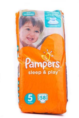 Подгузники PAMPERS Sleep & Play р5 11-18кг 58шт