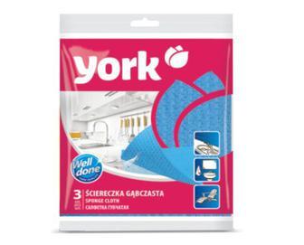 Серветка губчаста York, 3 шт./уп.
