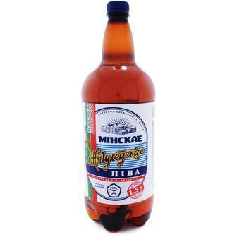 Пиво Минское Жигулевское світле 5%, пет, 1,5л