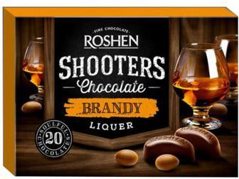 Цукерки Shooters с бренді-лікером, Рошен, 150 г
