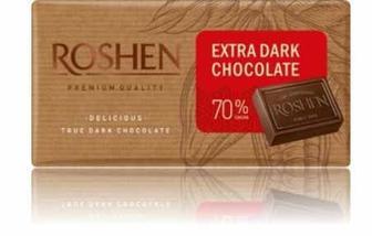 Шоколад екстрачорний 70%, Рошен, 90 г